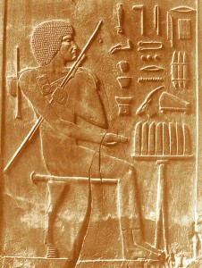 The first doctor on record is Hesy-Ra from Ancient Egypt (2700BC). Image by James Edward Quibell.